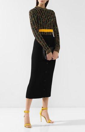 Женские кожаные босоножки portofino 105 GIANVITO ROSSI желтого цвета, арт. G61096.15RIC.NAPMIM0 | Фото 2
