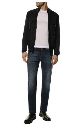 Мужские джинсы прямого кроя KITON синего цвета, арт. UPNJS1/J07R52 | Фото 2