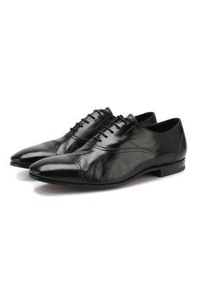 Мужские кожаные оксфорды H`D`S`N BARACCO черного цвета, арт. 67302.9* | Фото 1