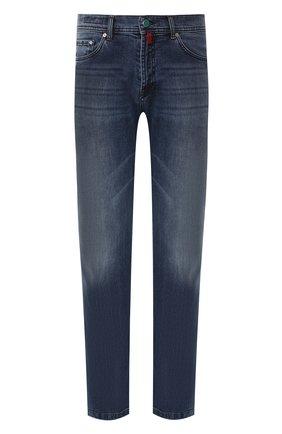 Мужские джинсы прямого кроя KITON синего цвета, арт. UPNJS1/J07R52 | Фото 1