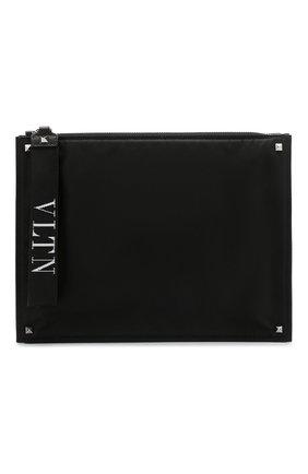 Текстильный клатч Valentino Garavani VLTN | Фото №1