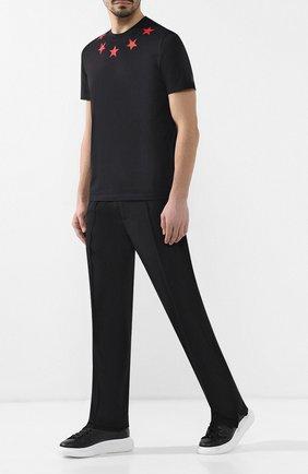 Мужской шерстяные брюки VALENTINO черного цвета, арт. RV3RBB45VUM | Фото 2