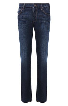 Мужские джинсы прямого кроя EMPORIO ARMANI темно-синего цвета, арт. 8N1J45/1V0LZ | Фото 1
