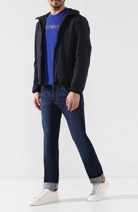 Мужские джинсы прямого кроя EMPORIO ARMANI темно-синего цвета, арт. 8N1J45/1V0LZ | Фото 2
