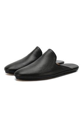 Мужского кожаные домашние туфли BRIONI черного цвета, арт. QTCN0L/P8714 | Фото 1