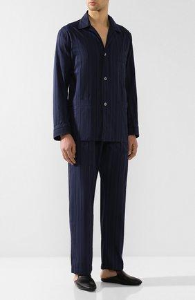 Мужского кожаные домашние туфли BRIONI черного цвета, арт. QTCN0L/P8714 | Фото 2