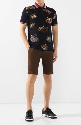 Мужские хлопковые шорты DOLCE & GABBANA хаки цвета, арт. GY6GMT/FUFIS | Фото 2