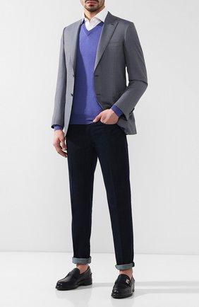 Мужской пуловер из смеси кашемира и шелка CRUCIANI сиреневого цвета, арт. CU487B.V03F6V | Фото 2