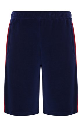Мужские хлопковые шорты GUCCI синего цвета, арт. 547885/XJAC9 | Фото 1