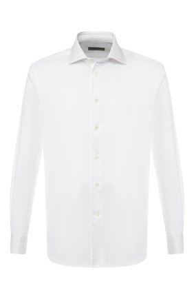 Мужская хлопковая сорочка с воротником кент CORNELIANI белого цвета, арт. 83P150-9111211/00 | Фото 1