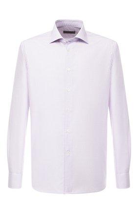 Мужская хлопковая сорочка с воротником кент CORNELIANI сиреневого цвета, арт. 83P100-9111294/00 | Фото 1