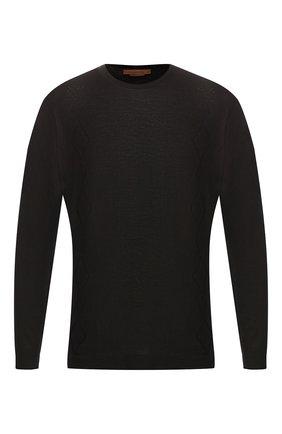 Мужской хлопковый джемпер CORNELIANI черного цвета, арт. 83M515-9125120/00 | Фото 1