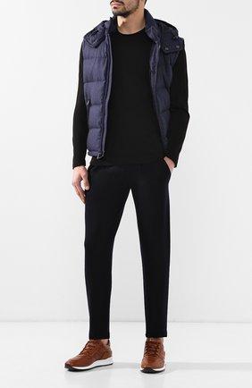 Мужской хлопковый джемпер CORNELIANI черного цвета, арт. 83M515-9125120/00 | Фото 2