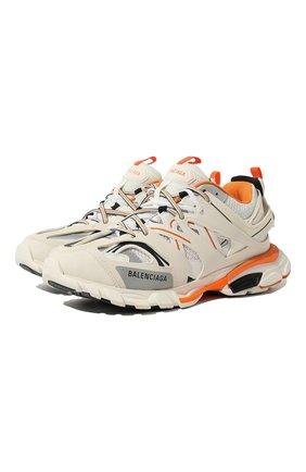 Мужские текстильные кроссовки track BALENCIAGA белого цвета, арт. 542023/W1GB1 | Фото 1
