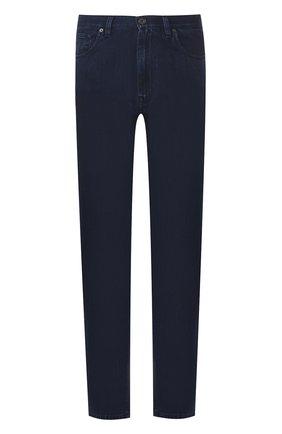 Мужские джинсы прямого кроя BRIONI темно-синего цвета, арт. SPNB0L/P8D12/C0RVARA | Фото 1