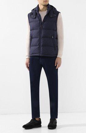 Мужские джинсы прямого кроя BRIONI темно-синего цвета, арт. SPNB0L/P8D12/C0RVARA | Фото 2