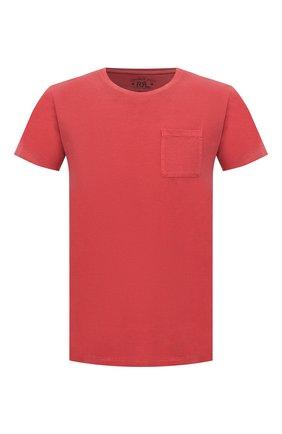 Мужская хлопковая футболка RRL красного цвета, арт. 782726136 | Фото 1