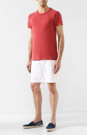 Мужская хлопковая футболка RRL красного цвета, арт. 782726136 | Фото 2