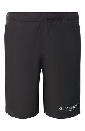 Детского плавки-шорты GIVENCHY черного цвета, арт. BMA0051Y5N | Фото 1