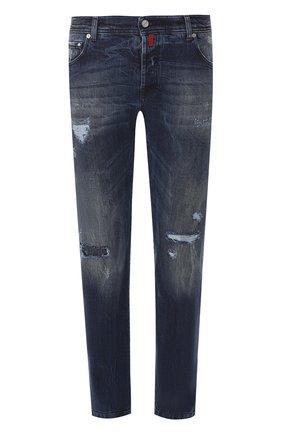 Мужские джинсы прямого кроя KITON синего цвета, арт. UPNJS/J07R71 | Фото 1