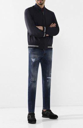 Мужские джинсы прямого кроя KITON синего цвета, арт. UPNJS/J07R71 | Фото 2