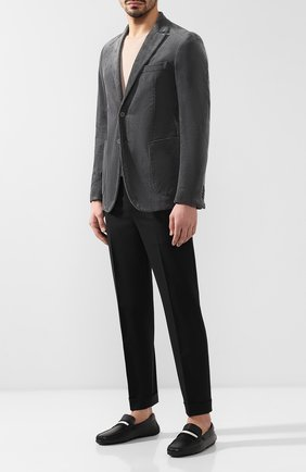 Мужские кожаные мокасины BALLY черного цвета, арт. PEARCE/300 | Фото 2