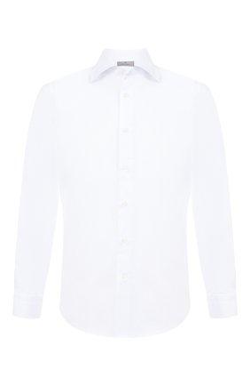 Мужская хлопковая сорочка с воротником кент CANALI белого цвета, арт. X05/GA00109/S | Фото 1