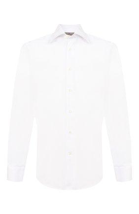 Мужская хлопковая сорочка с воротником кент CANALI белого цвета, арт. X05/GA00098/S | Фото 1