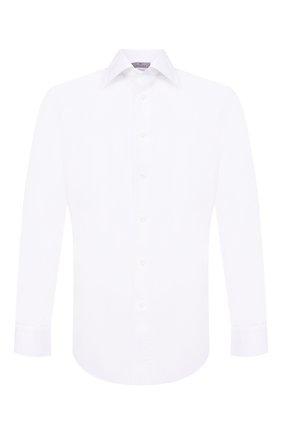 Мужская хлопковая сорочка с воротником кент CANALI белого цвета, арт. N705/GR01598/S | Фото 1