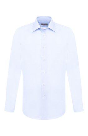 Мужская хлопковая сорочка с воротником кент CANALI голубого цвета, арт. 705/GA00327/S | Фото 1