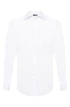 Мужская хлопковая сорочка с воротником кент CANALI белого цвета, арт. 705/GA00101/S/P | Фото 1