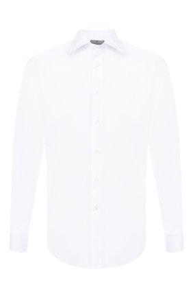 Мужская хлопковая сорочка с воротником кент CANALI белого цвета, арт. 705/GA00101/S | Фото 1