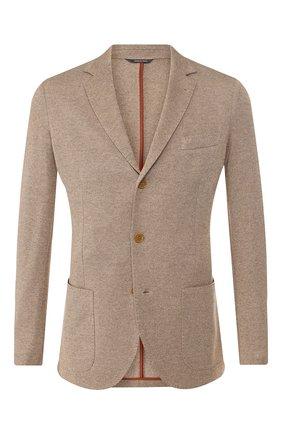 Мужской пиджак из смеси шелка и кашемира LORO PIANA бежевого цвета, арт. FAI0980 | Фото 1
