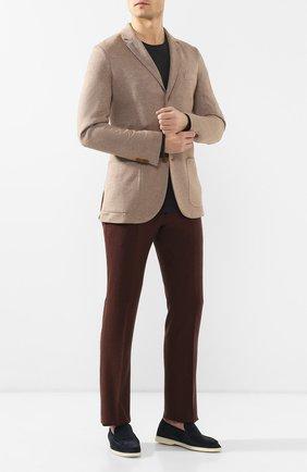 Мужской пиджак из смеси шелка и кашемира LORO PIANA бежевого цвета, арт. FAI0980 | Фото 2