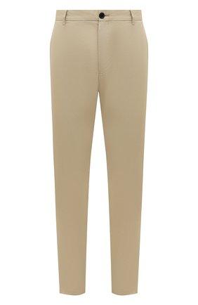 Мужские хлопковые брюки BURBERRY бежевого цвета, арт. 8001119 | Фото 1