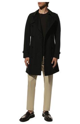 Мужские хлопковые брюки BURBERRY бежевого цвета, арт. 8001119 | Фото 2
