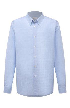 Мужская хлопковая сорочка с воротником кент BRIONI голубого цвета, арт. SCAD0L/P8041 | Фото 1