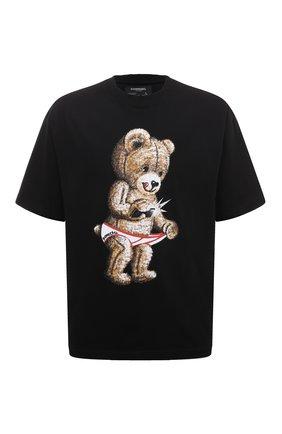 Мужская хлопковая футболка DOMREBEL черного цвета, арт. SNAP/T-SHIRT | Фото 1