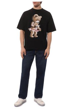 Мужская хлопковая футболка DOMREBEL черного цвета, арт. SNAP/T-SHIRT | Фото 2