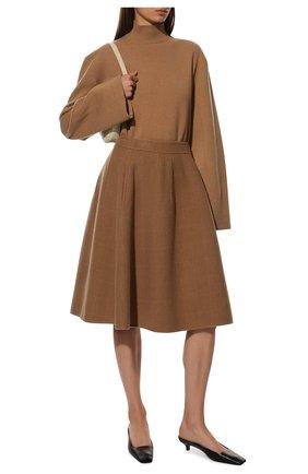 Женская кашемировая юбка BOTTEGA VENETA бежевого цвета, арт. 546074/VCYJ0 | Фото 2