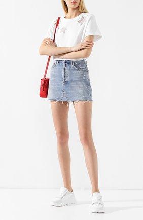 Женская джинсовая юбка AGOLDE голубого цвета, арт. A068F-811   Фото 2