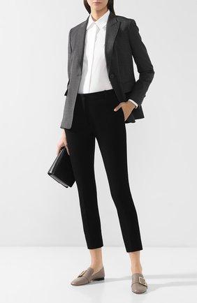 Женские брюки из смеси хлопка и вискозы JOSEPH черного цвета, арт. JP000322 | Фото 2