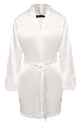 Женский шелковый халат COTTON CLUB кремвого цвета, арт. 6VB | Фото 1