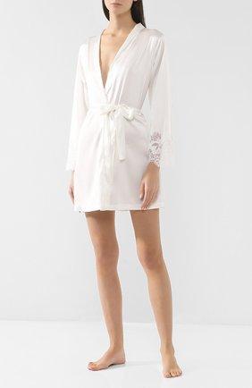 Женский шелковый халат COTTON CLUB кремвого цвета, арт. 6VB | Фото 2