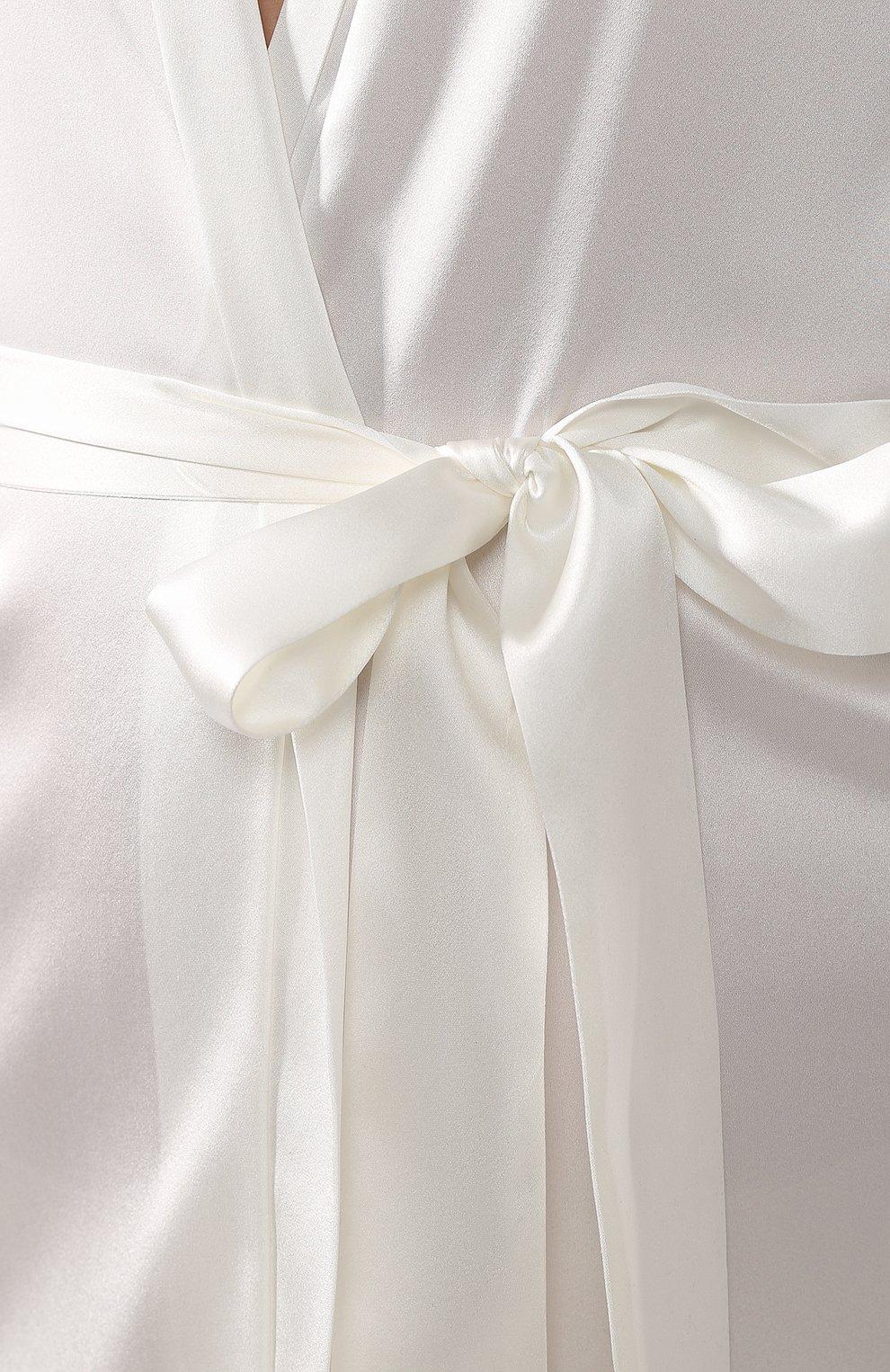 Женский шелковый халат COTTON CLUB кремвого цвета, арт. 6VB | Фото 5