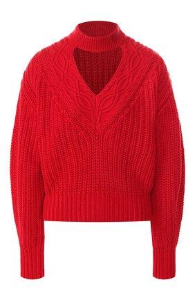 Пуловер из смеси хлопка и шерсти | Фото №1