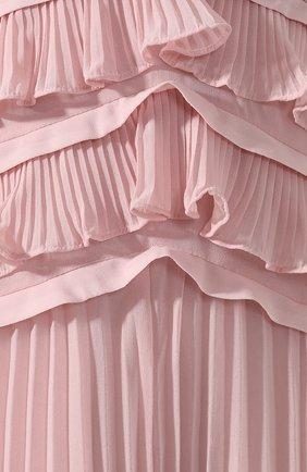 Женское платье-миди SELF-PORTRAIT розового цвета, арт. SP20-135P | Фото 5