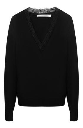 Пуловер с кружевной вставкой | Фото №1
