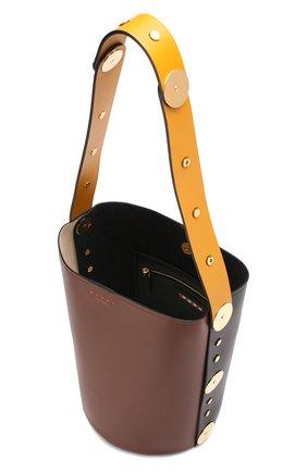 Сумка Punch  Marni коричневая цвета | Фото №4