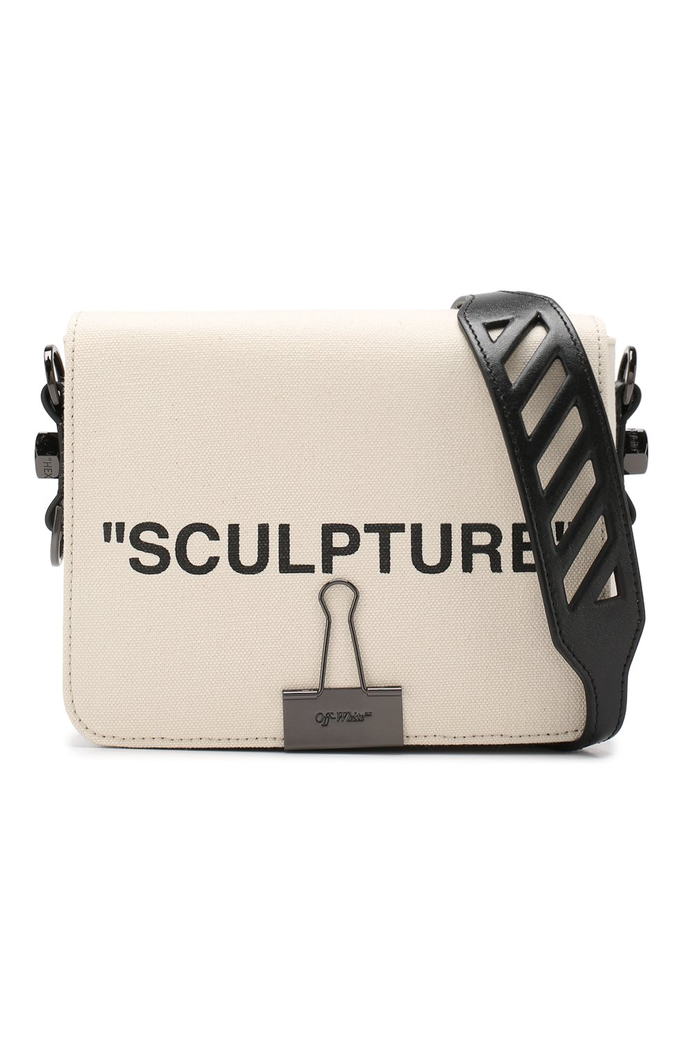 Сумка Sculpture Binder Clip Off-White бежевая цвета   Фото №6